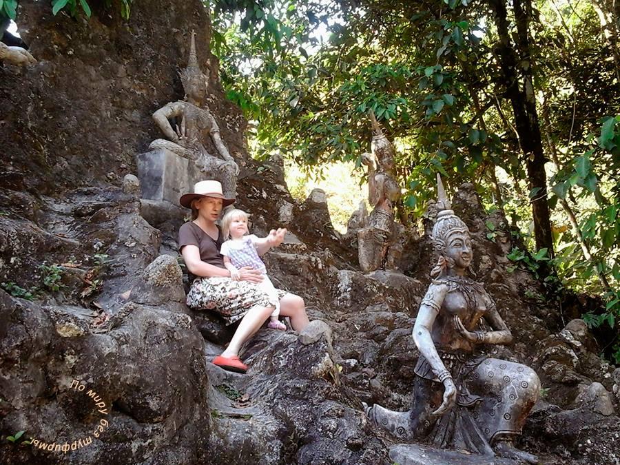 Самуи. Путеводитель. Сад камней с ребенком.