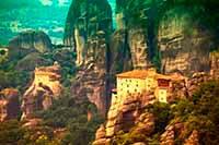 Монастырь Руссану. Метеоры Греция. Метеоры путеводитель греция