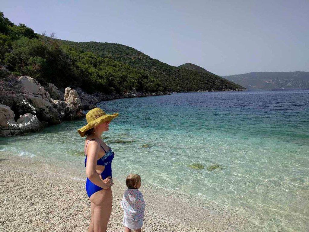 Кефалония Пляжи Антисамос. Antisamos Beach. Путеводитель Кефалиния. Греция.