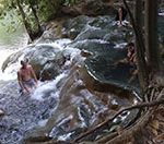 Горячие источники или Горячий водопад Hot Stream Waterfall в Краби.