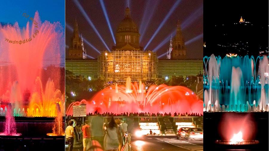 поющие фонтаны в Барселоне,магический фонтан Монжуика, расписание, время работы