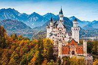 баварский Нойшванштайн замок самостоятельно