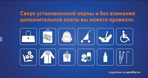 ручная кладь в самолете Аэрофлот в кг, параметры ручной клади в самолете Аэрофлот,бесплатный багаж Аэрофлот эконом