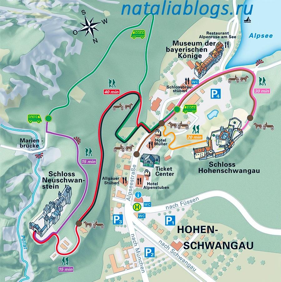 Нойшванштайн замок история кратко,экскурсия в Нойшванштайн, как добраться из Мюнхена, замок Нойшванштайн самостоятельно