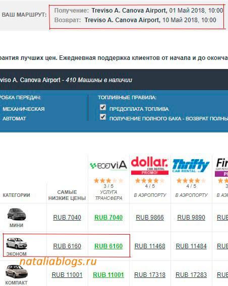 сколько стоит прокат машин в Италии цены, бесплатная парковка в Италии, штрафы за нарушение ПДД в Италии