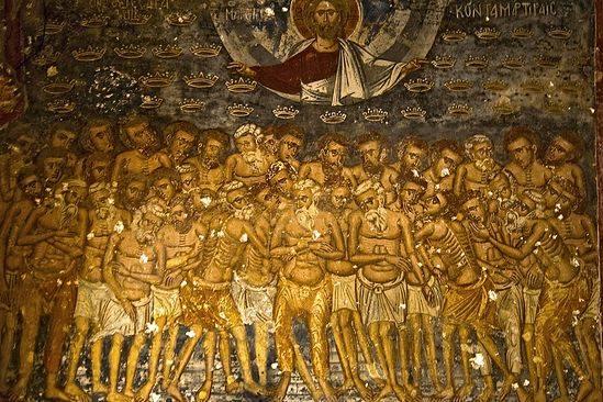 История о сорока мучениках, в честь которых названы ворота Porta Santi Quaranta в Тревизо. Легенды. Святое писание