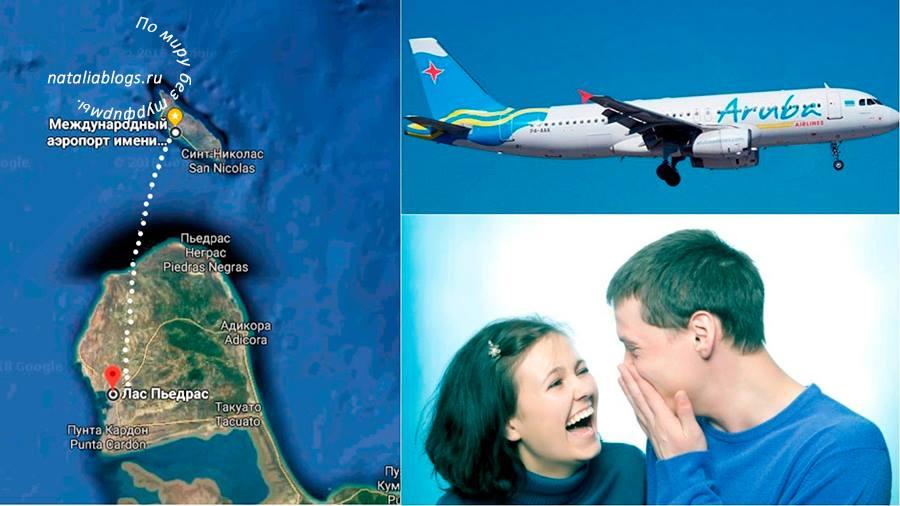Экзотические места для путешествий. Остров Аруба. Самый короткий рейс на самолете