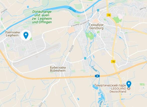Гюнцбург Леголенд парк Германия на карте, как доехать из Мюнхена в Леголенд,развлечения в Баварии