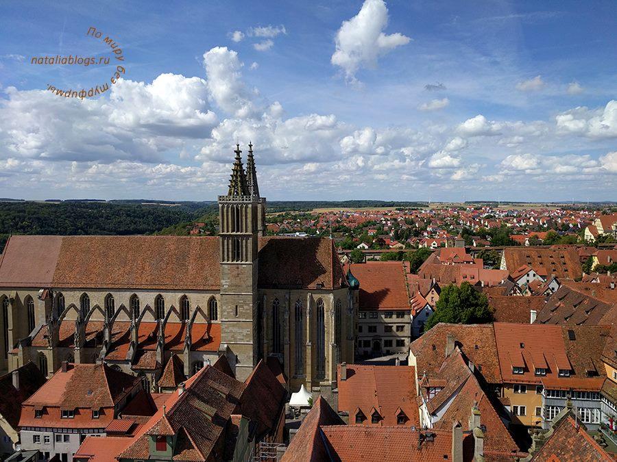 Что посмотреть в Ротенбурге-на-Таубере. Фото. Достопримечательности. Вид сверху на Собор Св. Якова
