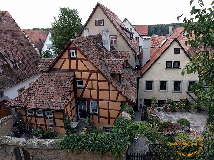 Ротенбург-об-дер-Таубер. Достопримечательности. Вид с крепостной стены