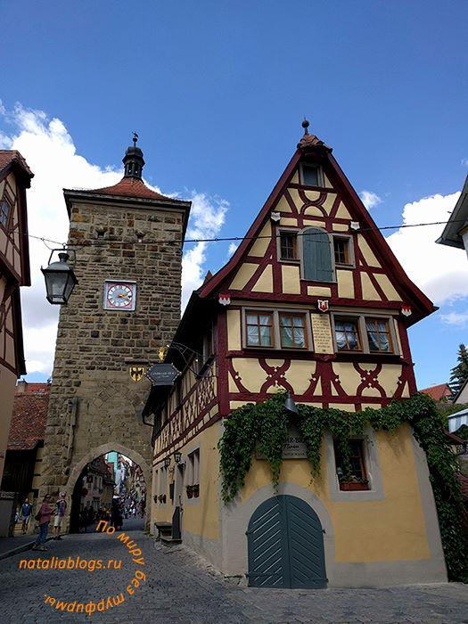 Город Ротенбург-на-Таубере (Германия). Достопримечательности. Landwehr-Bräu am Turm