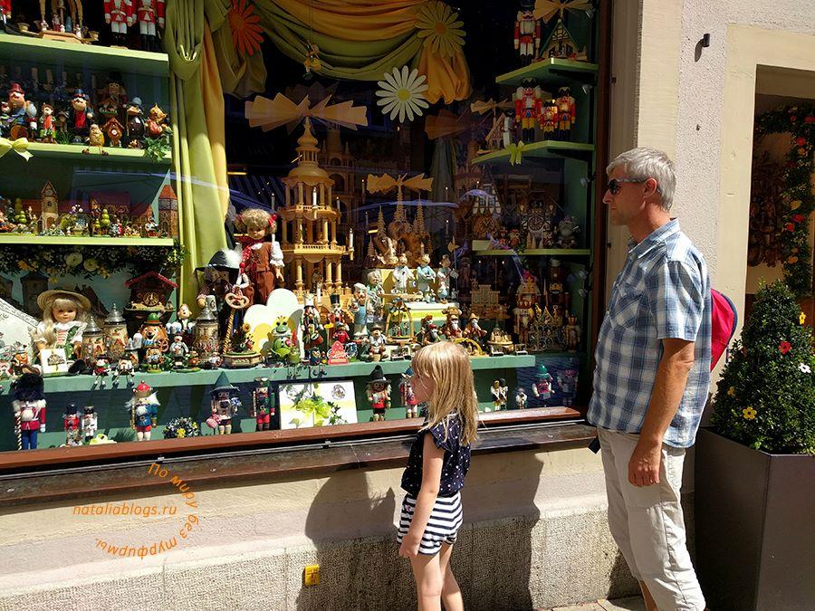 Ротенбург. Германия. . Достопримечательности. Фото. Рождественский магазин игрушек