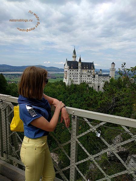 Мост. Замок Нойшванштайн. Альпы. Германия
