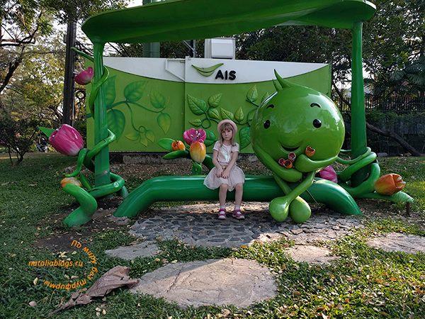 Что посмотреть в Бангкоке недалеко от аэропорта с детьми. Парк короля Рама 9