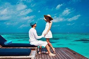 Креативные подарки на День Святого Валентина - рай на Мальдивах