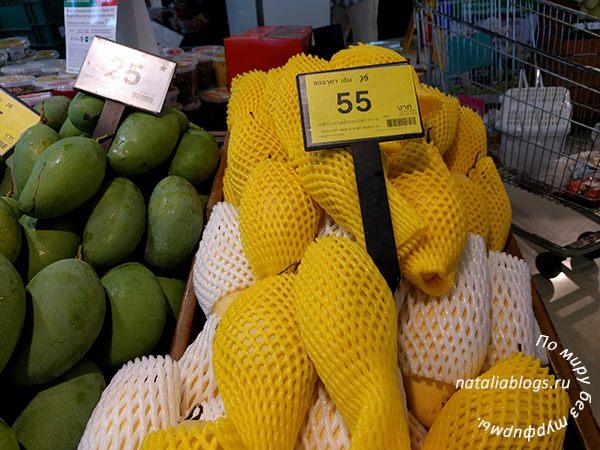 Цены на фрукты Таиланда с фото. Манго. Зеленое и желтое
