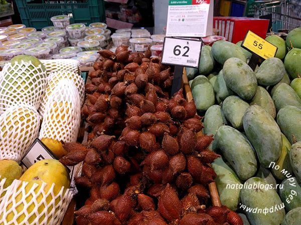 Цены на фрукты Таиланда с фото и названиями. Папайя, салак, манго