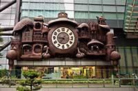 Hayao Miyazaki's Nippon Television Big Clock - часы Гибли в Токио