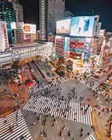 Shibuya Crossing - знаменитый перекресток Токио