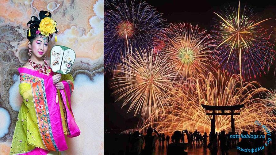 Летом в Японии проходят крупные фестивали фейерверков. Токио праздник 2019