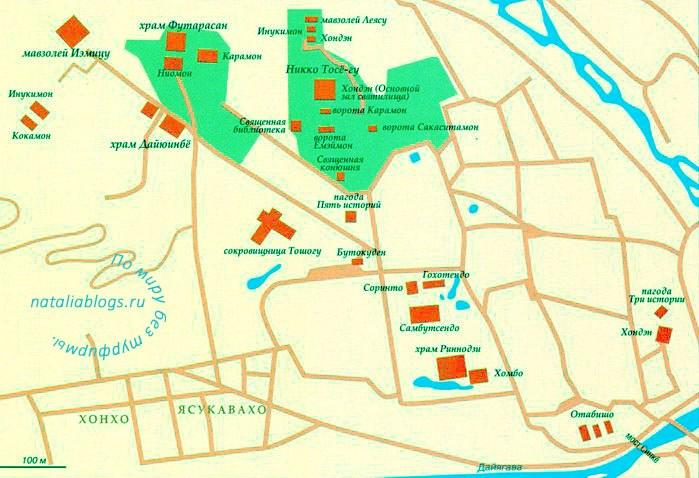 Карта Никко на русском